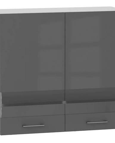 Skrinka do kuchyne Alvico WS80 sklo antracita BB