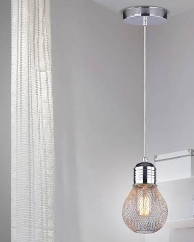 Gliva Závesné svietidlo 1x60w E27 Chróm (bez žiaroviek)