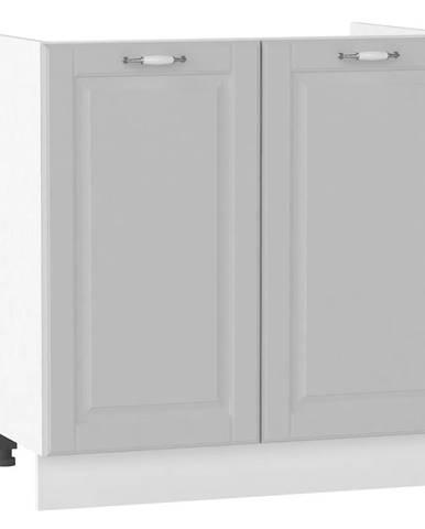 Skrinka do kuchyne Moniuszko D80ZL šedá matná BB
