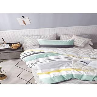 Bavlnená saténová posteľná bielizeň albs-01018b/2 140x200 lasher
