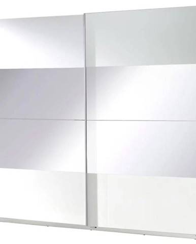 Skriňa Twister 2 225 cm biela/zrkadlo