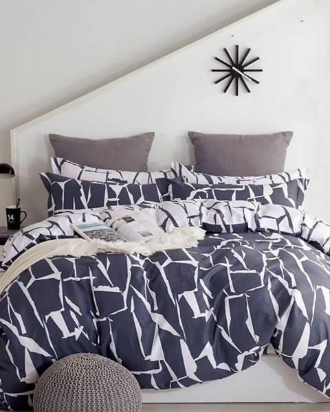 MERKURY MARKET Bavlnená  saténová  posteľná  bielizeň  Albs-01134b/2  140x200