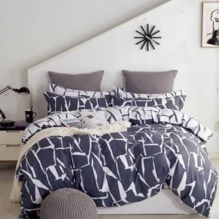 Bavlnená  saténová  posteľná  bielizeň  Albs-01134b/2  140x200
