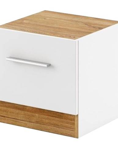 Pravý Nočný stolík DT-03P biely/dub styrling