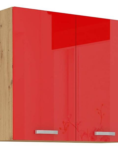 MERKURY MARKET Skrinka do kuchyne Artisan červená lesk 80G-72 2F