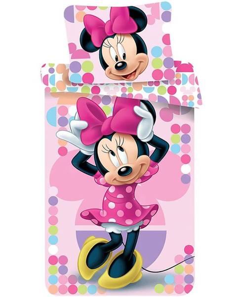 MERKURY MARKET Bavlnená  saténová  posteľná  bielizeň  70x90/140x200  Minnie  Pink  03