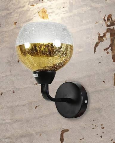 Cromina Gold Svietniková lampa 1x60w E27 Čierna