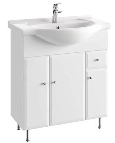 Kúpeľňová skrinka Armando D75 3D1S pod umývadlo Roberto