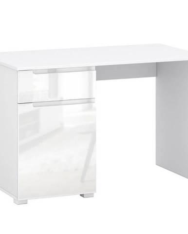 Písací stôl Hill biely lesk