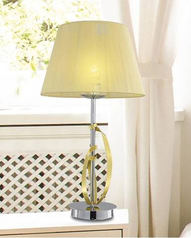 Stolná lampa Diva 1x60w E27 Chróm/Zlatá