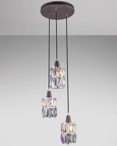 Závesná lampa 15761-3 hnedý kryštál LW3