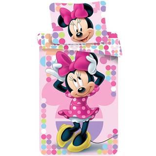 Bavlnená  saténová  posteľná  bielizeň  70x90/140x200  Minnie  Pink  03