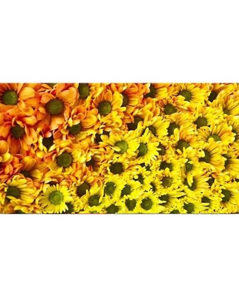 AQUA MERCADO Dekor sklenený Žlté kvety 20/50
