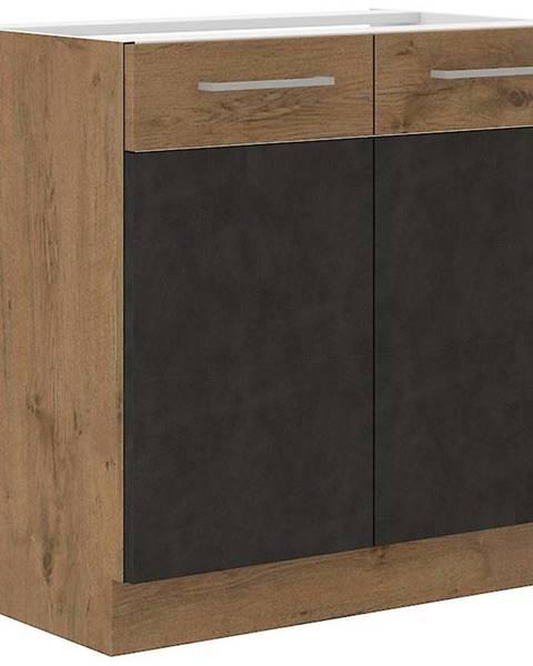 MERKURY MARKET Skrinka do kuchyne VIGO grafit mat 80D 2F BB