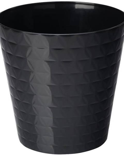 MERKURY MARKET Kvetináč Diament Petit 15 cm čierna