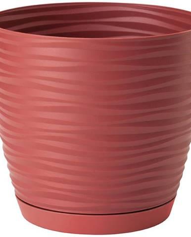 Sahara Petit okrúhly s podstavcom 23 cm červená