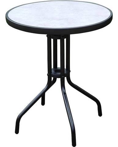 Sklenený stôl imitácia betónu čierny