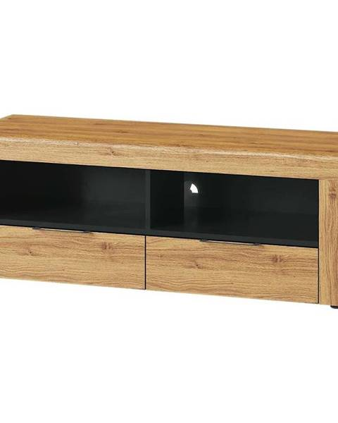 MERKURY MARKET TV stolík 2D 24 Kama dub camargue/čierna mat