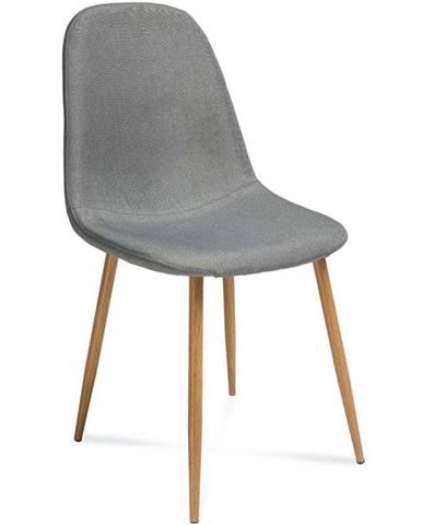 Stolička Simon šedá/dub