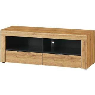 TV stolík 2D 24 Kama dub camargue/čierna mat