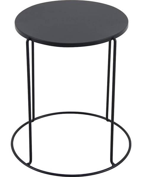 MERKURY MARKET Kovový stôl Moderna čierna 41x45 cm