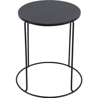 Kovový stôl Moderna čierna 41x45 cm