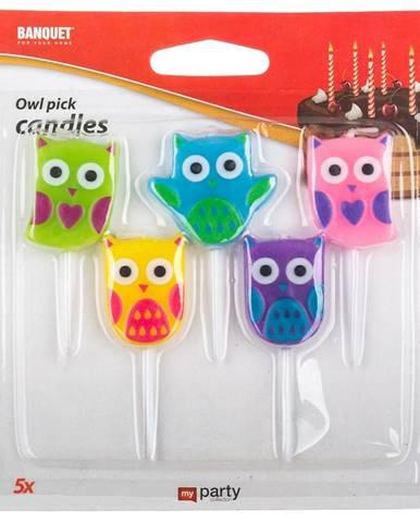 Narodeninové sviečky owl 5 ks My Party
