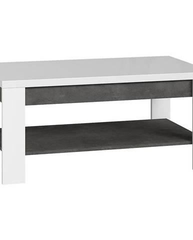 Konferenčný stolík Brugia BRCT501 sivá/biela lesklá