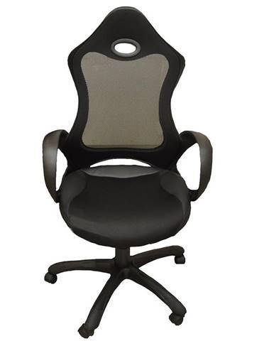 Kancelárska stolička  CX 0388H01 čierna D01/čierna C01/ čierna PU002