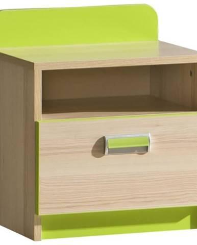 Nočný stolík 12 Lorento Limetkovo Zelená/Jasan Coimbra