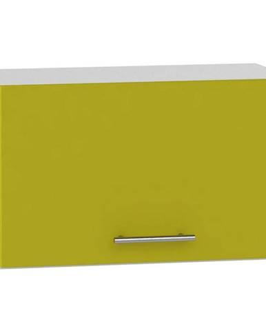 Skrinka do kuchyne Hana zelený lesk/biela W60 OKGR BB