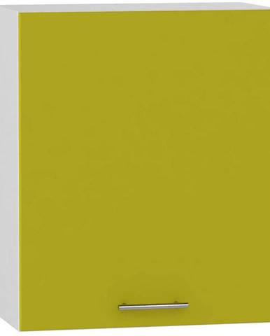 Skrinka do kuchyne Hana zelený lesk/biela W60 P BB