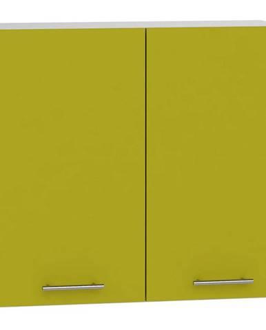 Skrinka do kuchyne Hana zelený lesk/biela W80 SU BB