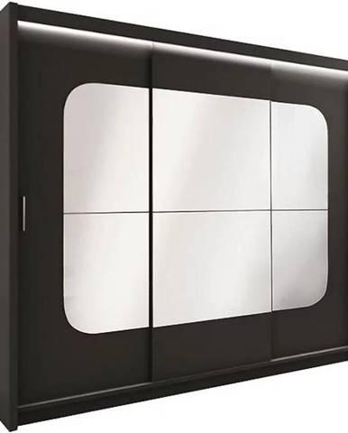 Skriňa Barcelona 250 cm čierna