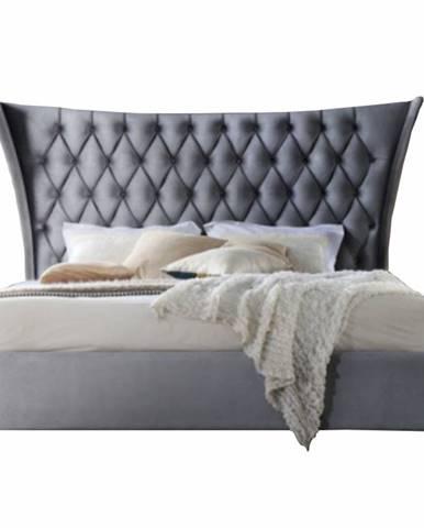 Alesia 160 manželská posteľ 160x200 cm sivá