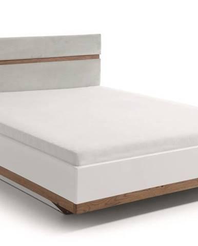 Como CM-2 160 manželská posteľ biely vysoký lesk