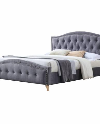 Giovana 160 manželská posteľ 160x200 cm sivá