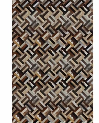 Typ 2 kožený koberec 140x200 cm vzor patchwork