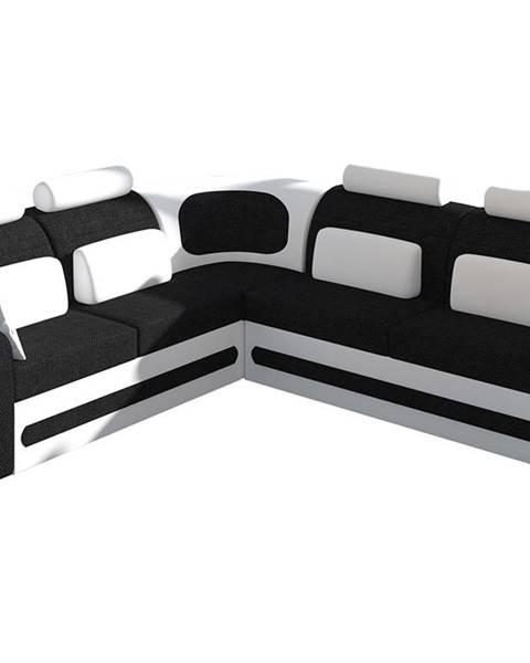 NABBI Bolzano L rohová sedačka s rozkladom a úložným priestorom čierna (Sawana 14)