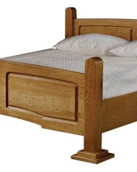 Pyka Kinga 180 rustikálna manželská posteľ drevo D3