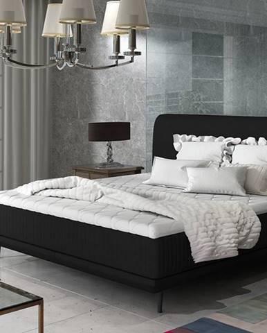 Ancona 140 čalúnená manželská posteľ čierna (Ontario 100)
