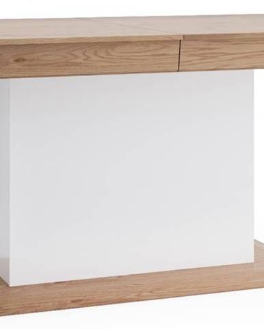 Aspen AS-S1 rozkladací jedálenský stôl biely vysoký lesk