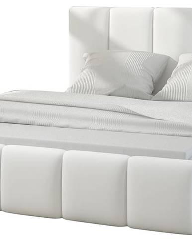 Evora 180 čalúnená manželská posteľ biela
