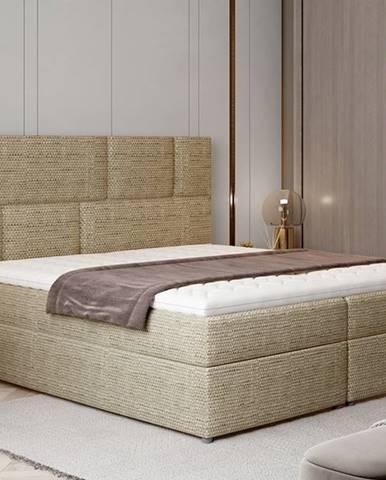 Ferine 165 čalúnená manželská posteľ s úložným priestorom cappuccino