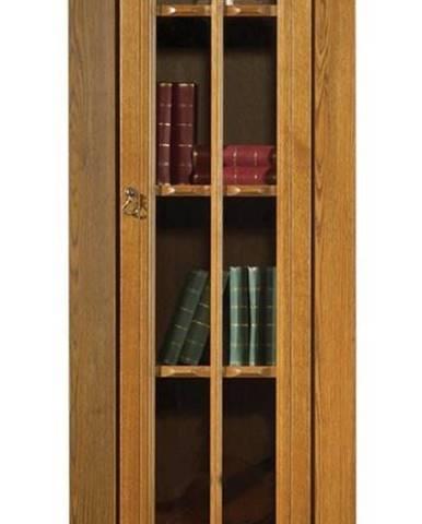 Kinga P rustikálna jednodverová vitrína drevo D3