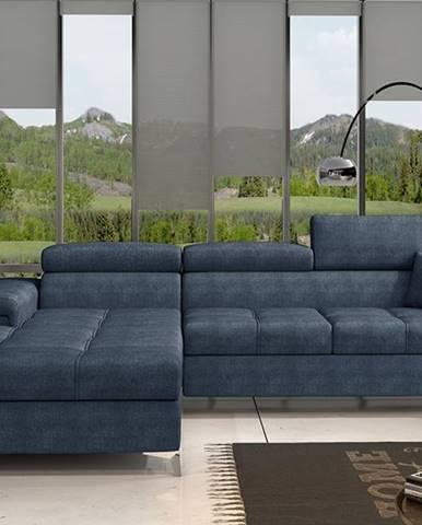 Rosino L rohová sedačka s rozkladom a úložným priestorom modrá