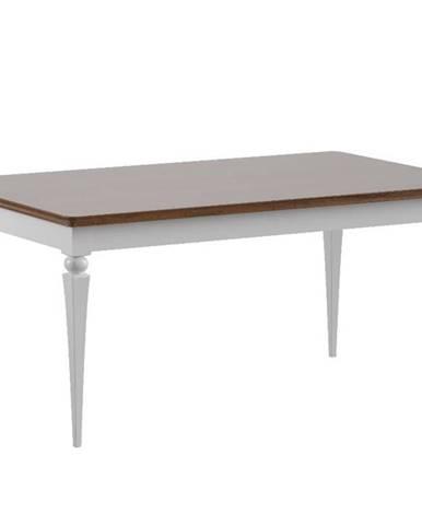 Torino TO-S1 rozkladací jedálenský stôl biely vysoký lesk