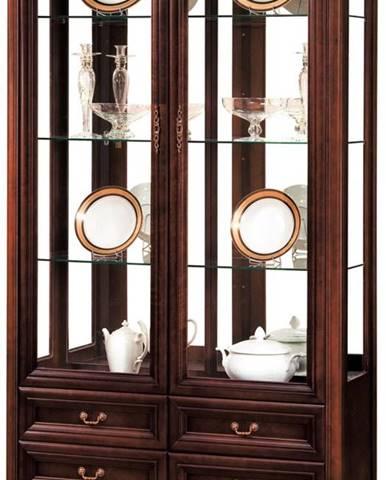 Wersal W-W2 rustikálna vitrína wenge