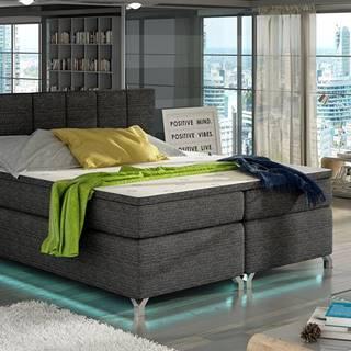 Barino 180 čalúnená manželská posteľ s úložným priestorom čierna (Berlin 02)