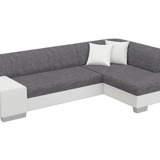 Ferol P rohová sedačka s rozkladom a úložným priestorom sivá (Sawana 05)